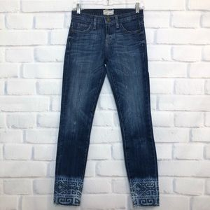 Current/Elliott Cutoff Stiletto Dakota Tribal Jean
